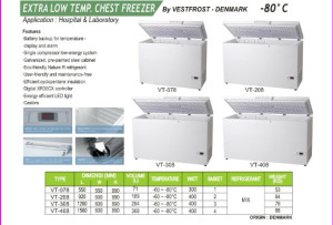 Freezer Minus 80 derajat (Extra Low Temp Chest Freezer)
